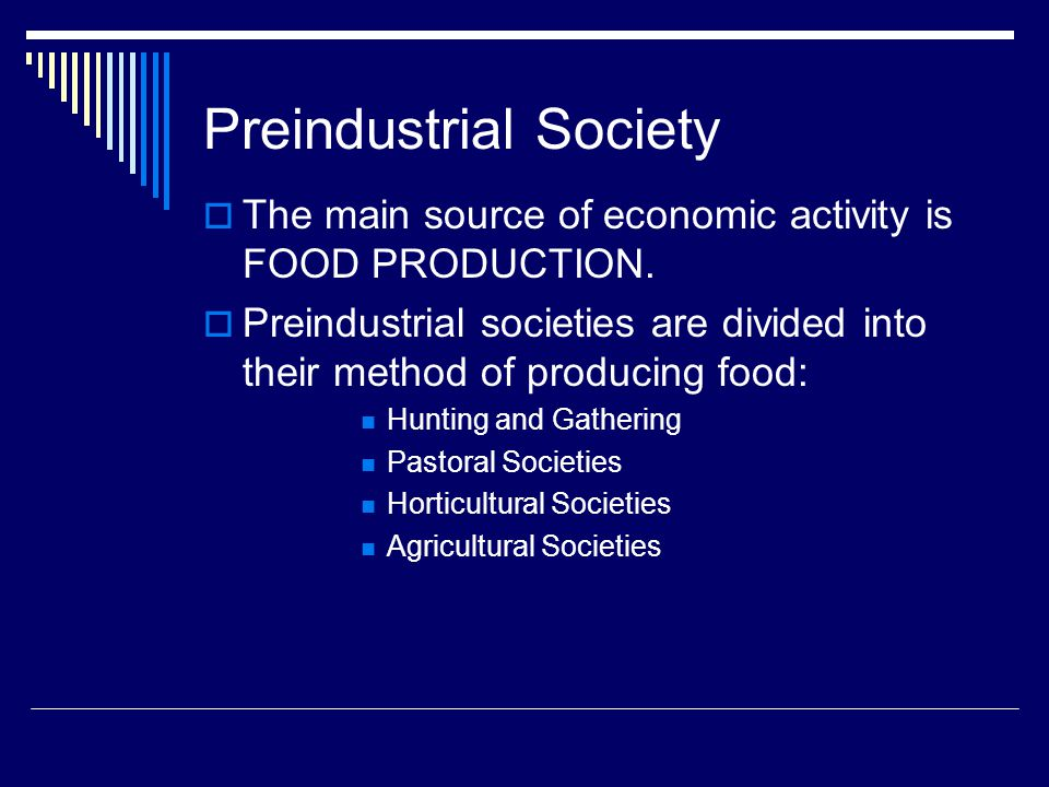Preindustrial Society