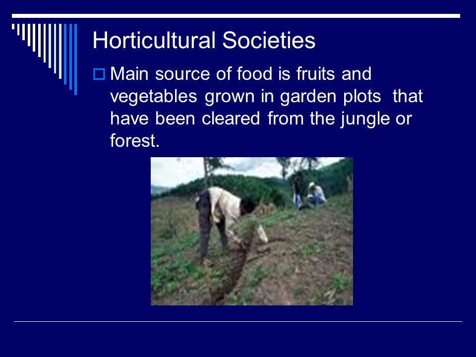 Horticultural Societies