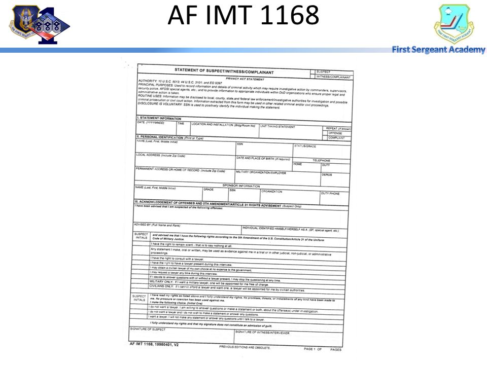 Af Form 1168 Tekil Lessecretsdeparis Co