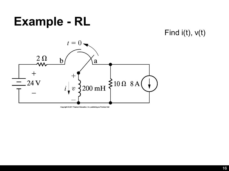 Example - RL Find i(t), v(t)