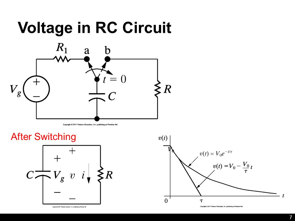Voltage in RC Circuit After Switching