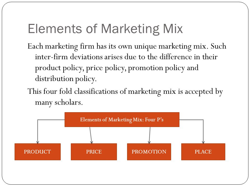 what are the four variables of the marketing mix why are these elements known as variables In marketing, the promotional mix describes a blend of promotional variables chosen by marketers to activities identified as elements of the promotional mix.