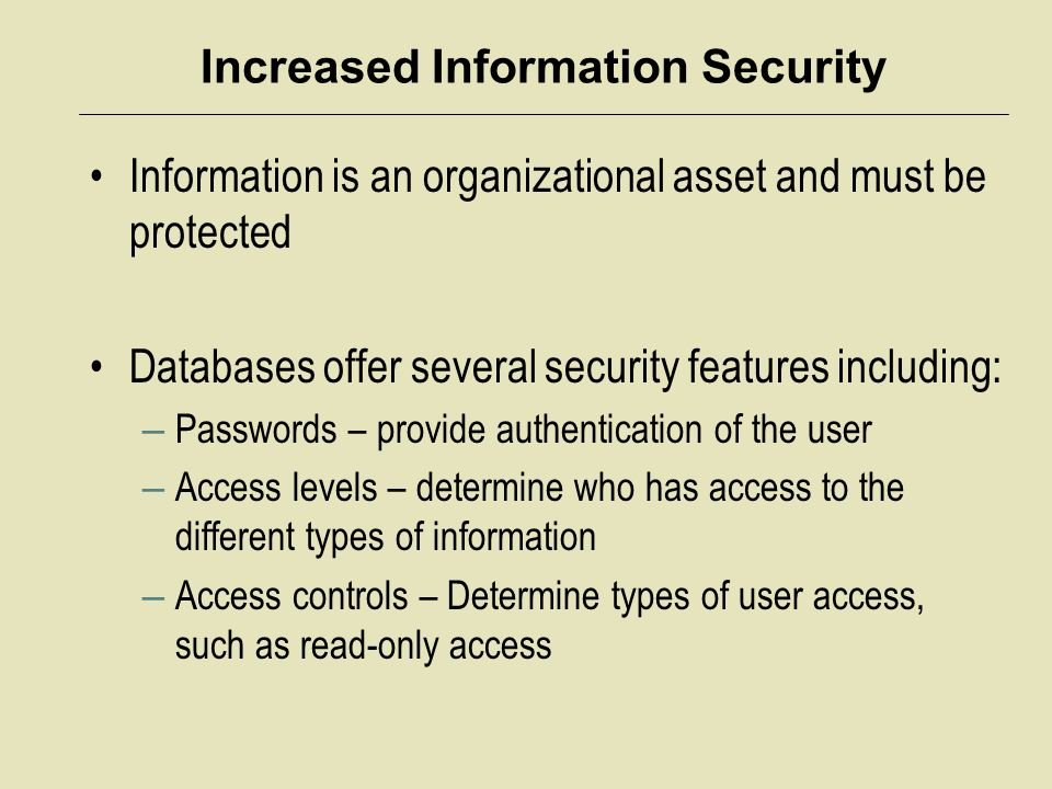 Increased Information Security