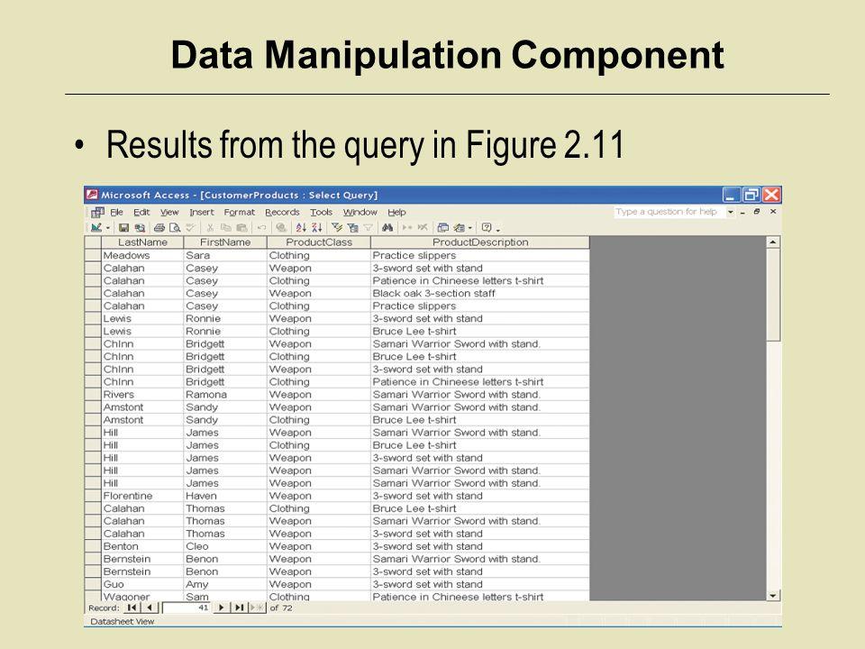 Data Manipulation Component