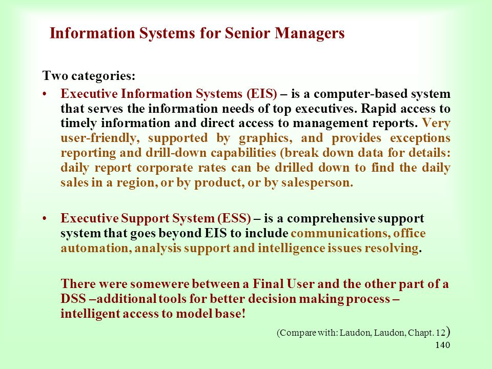 Information Systems for Senior Managers