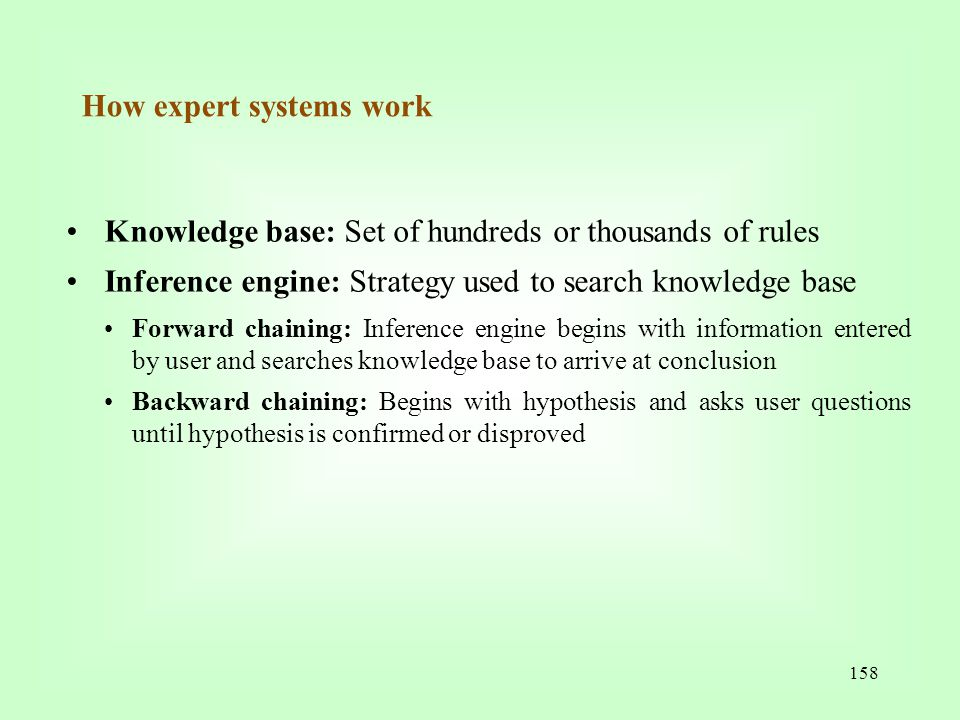 How expert systems work