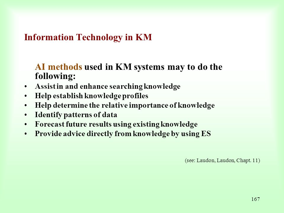 Information Technology in KM