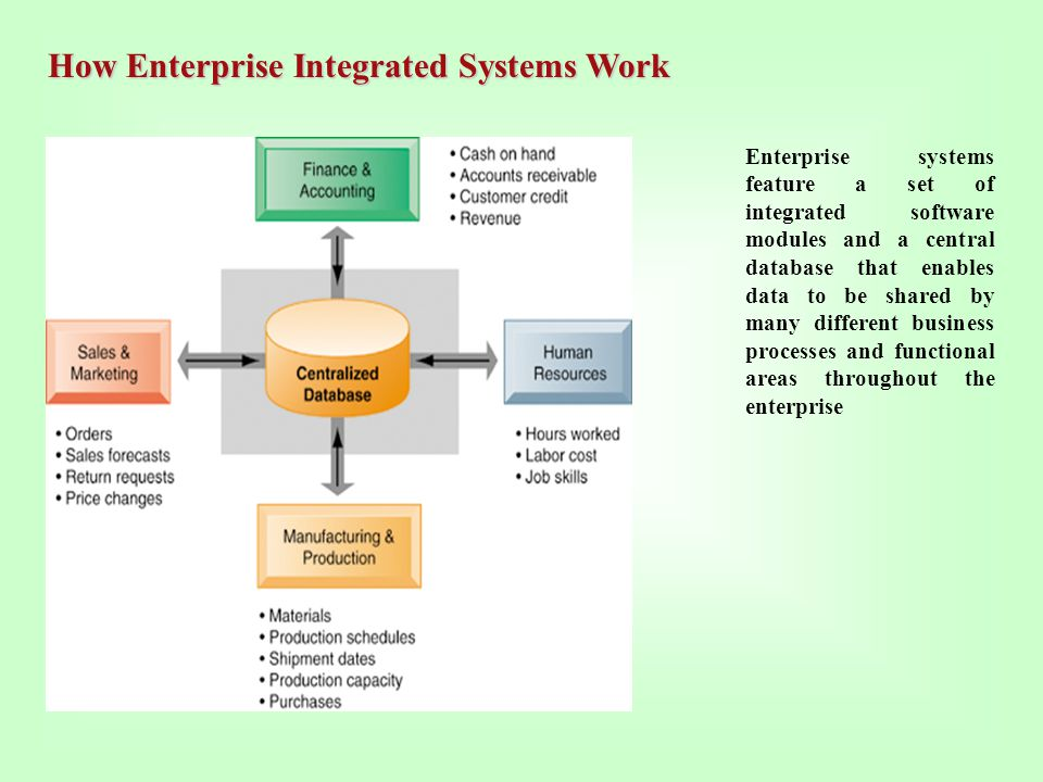 How Enterprise Integrated Systems Work