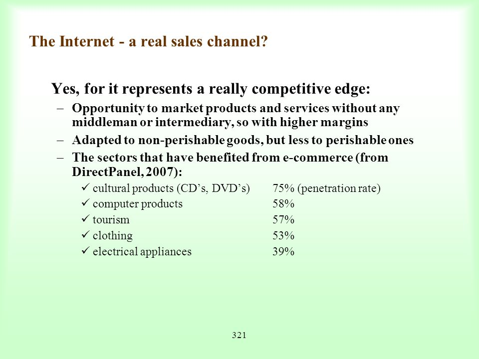 The Internet - a real sales channel