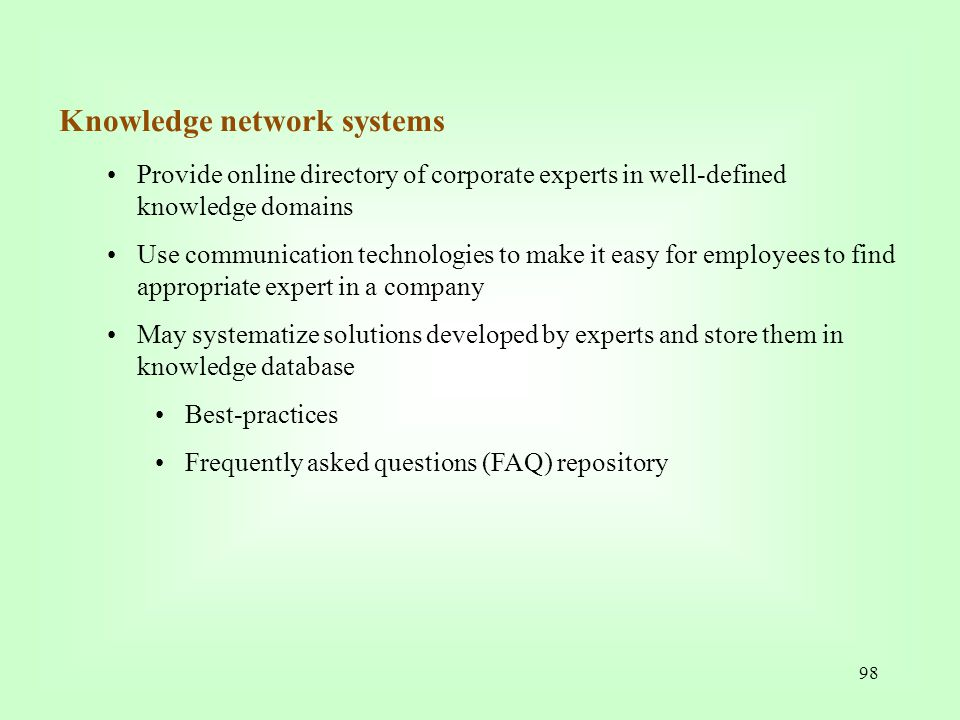 Knowledge network systems