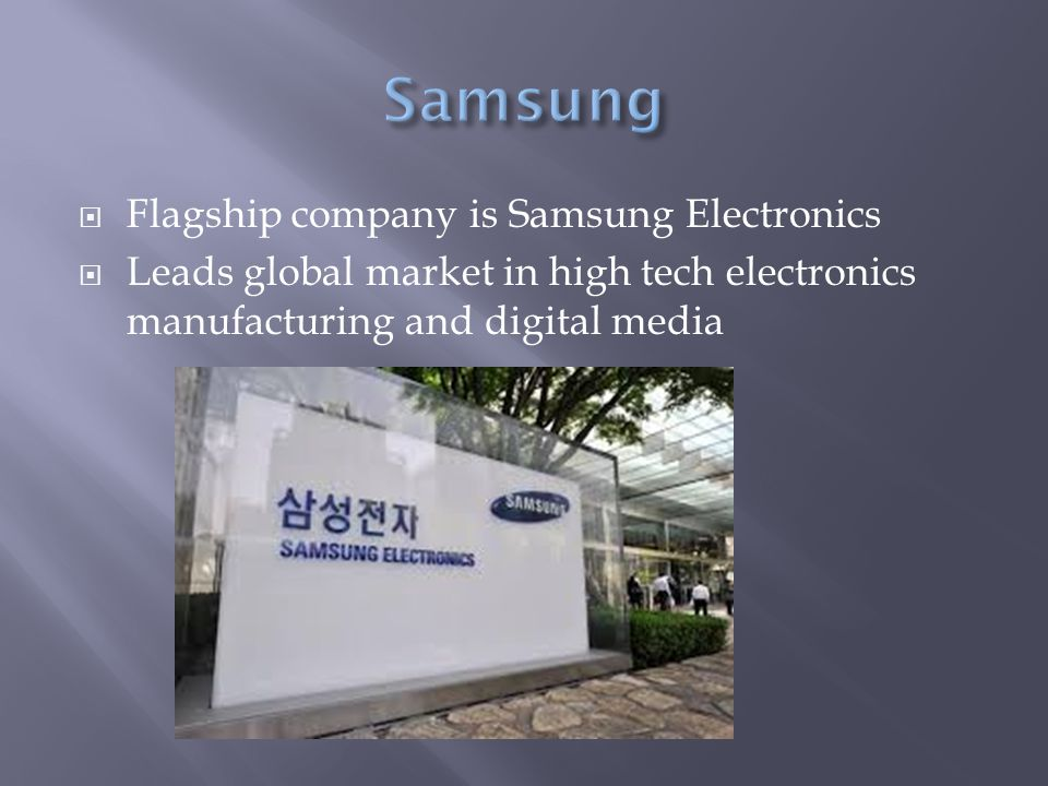 samsung electronics company global marketing operation Our flagship company, samsung electronics, leads the global market in high-tech  electronics manufacturing and digital media through.