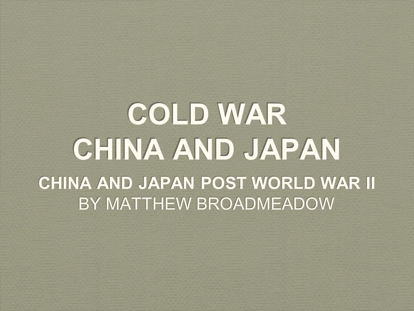 """cold war chinese The cold war limited resources of china leaned towards a defensive policy, well before any plan for a """"green water navy"""", let alone a """"blue water"""" one the best naval defensive ways had been submarines and missile or torpedo boats."""