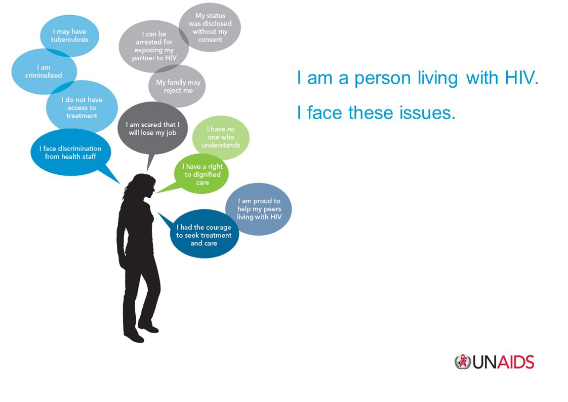 I am a person living with HIV.