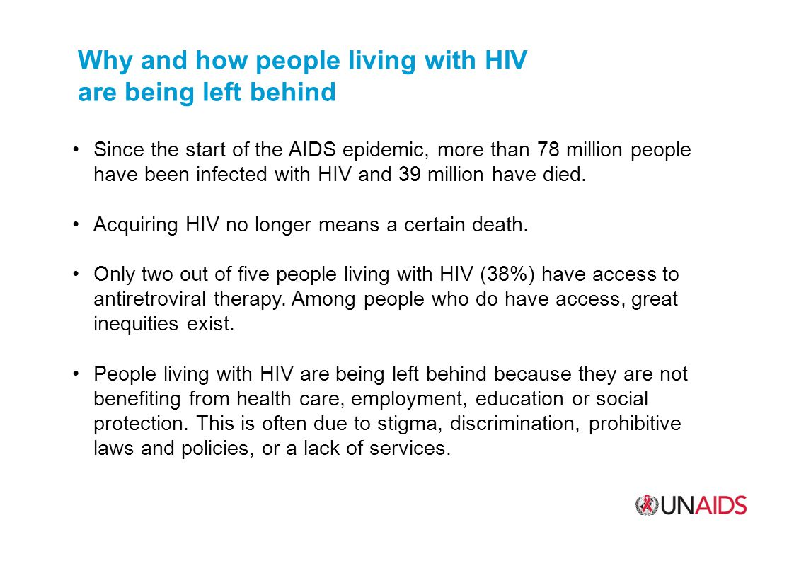 Why and how people living with HIV are being left behind