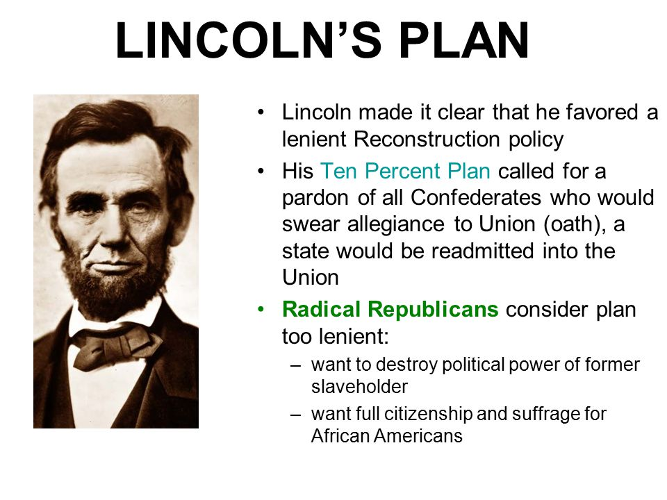 lincolns restoration plan and johnsons policies of amnesty and pardon In regarding johnson's plan in the matter of pardon and amnesty as  problem,  and contrasting the lincoln and johnson policy with recent totalitarian regimes,.