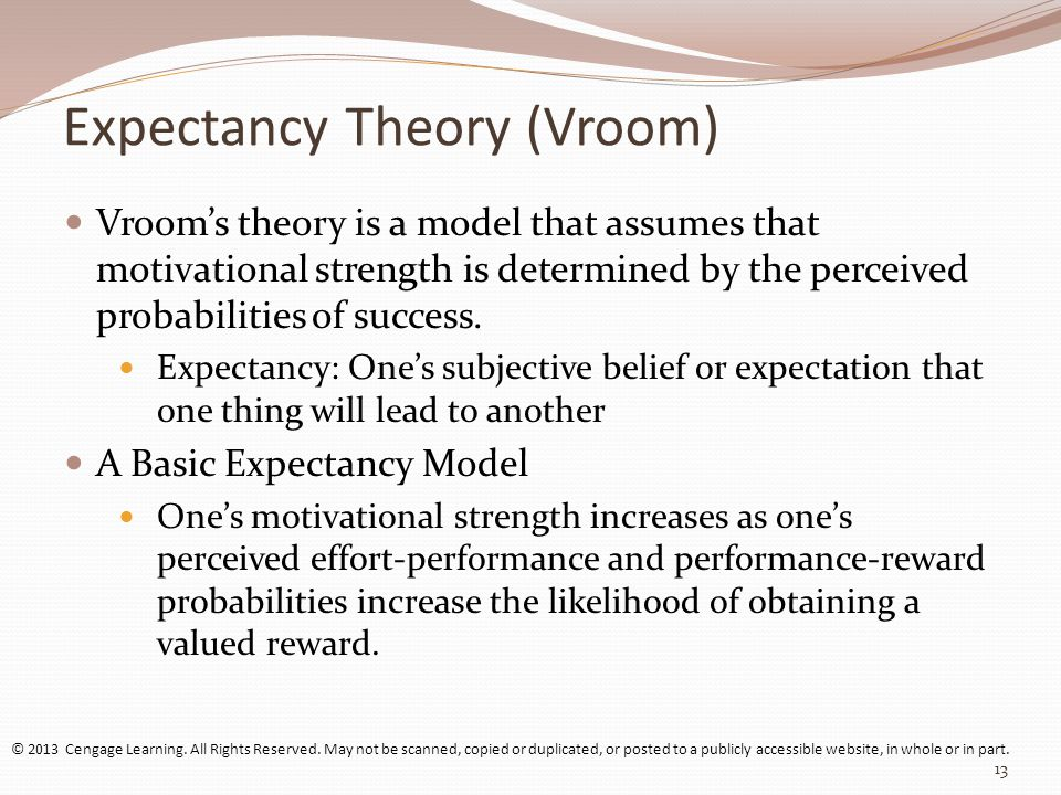 case example of expectancy theory In this context, the aim of this research is to confirm a theoretical model based on  expectancy theory to explain self-employment in terms of an.