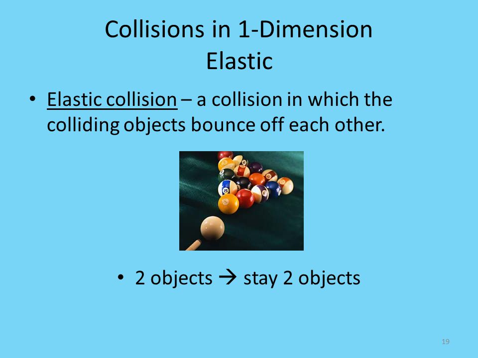 Collisions in 1-Dimension Elastic