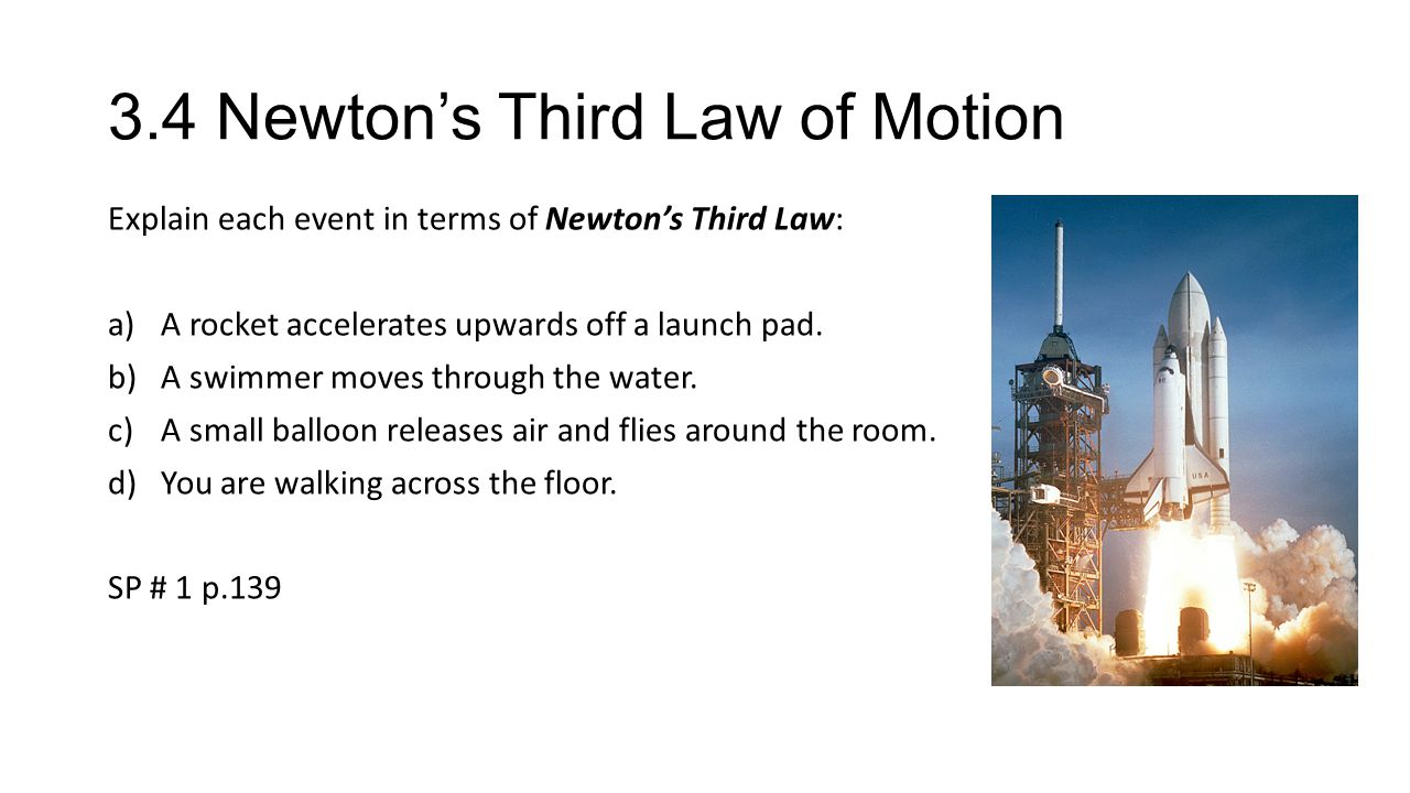 3.4 Newton's Third Law of Motion - ppt video online download