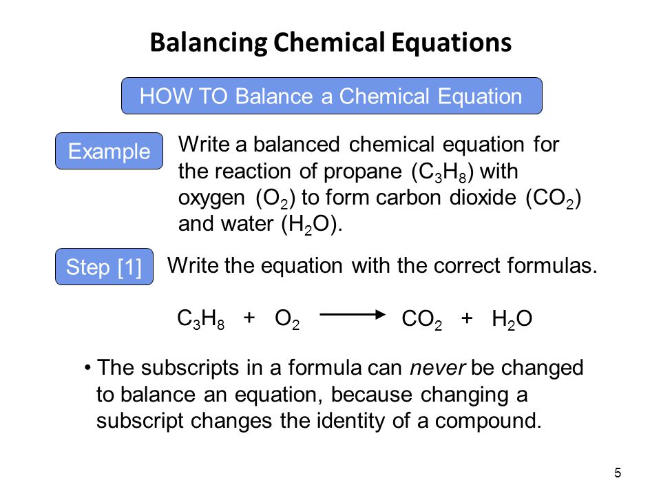 Introduction To Chemical Reactions