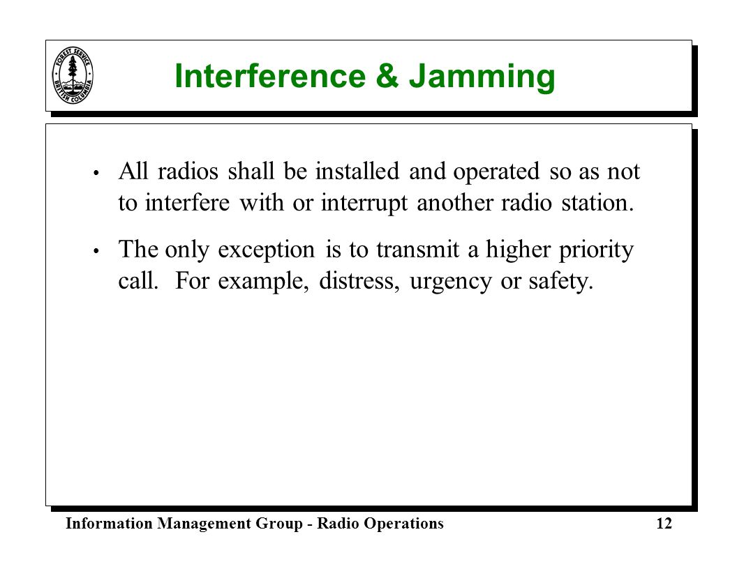 Interference & Jamming