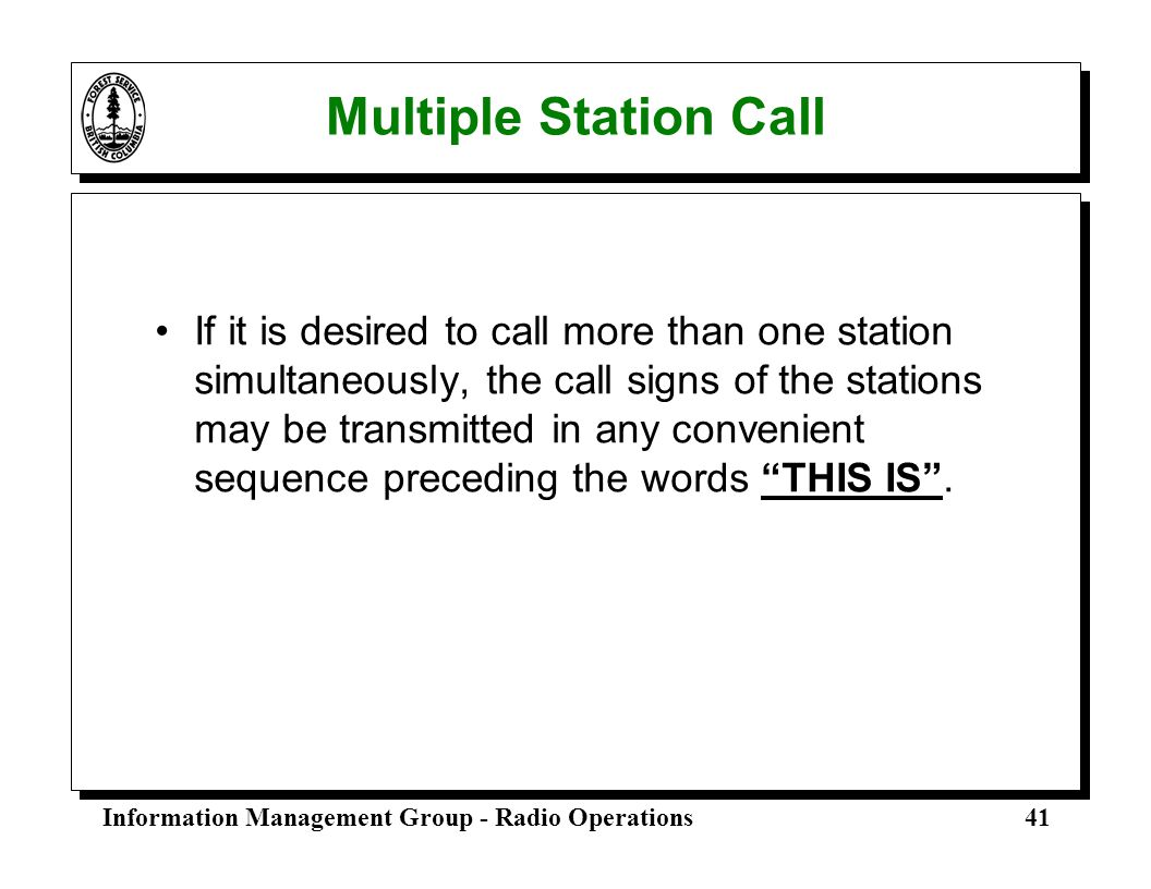 Multiple Station Call