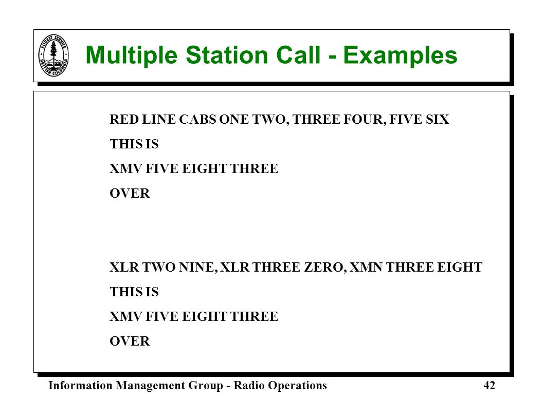 Multiple Station Call - Examples