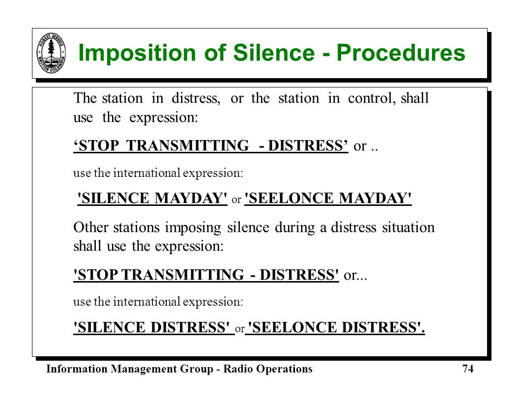 Imposition of Silence - Procedures