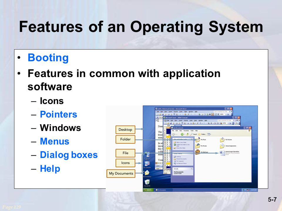 Features of an Operating System