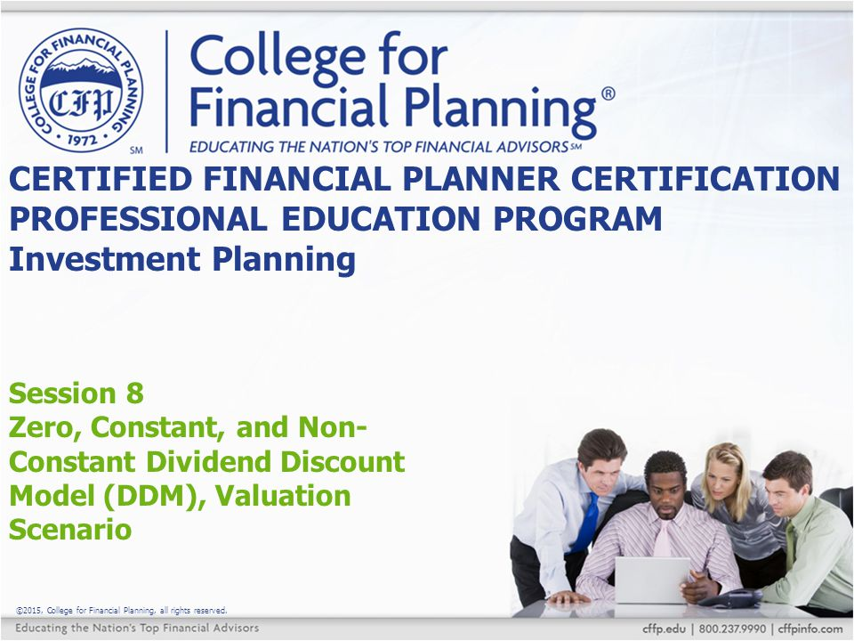 CERTIFIED FINANCIAL PLANNER CERTIFICATION PROFESSIONAL EDUCATION ...