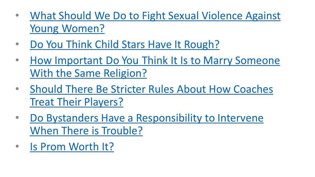 persuasive essay possible topics ppt video online  what should we do to fight sexual violence against young women