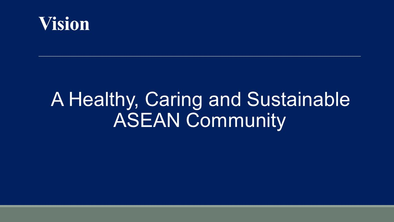 A Healthy, Caring and Sustainable ASEAN Community