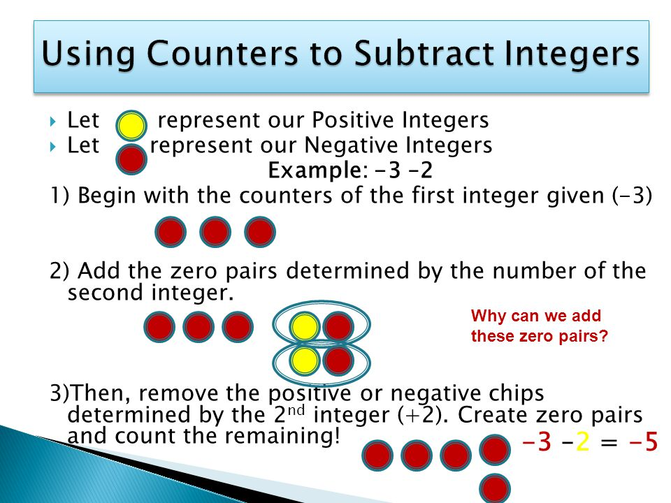 how to solve a using counters