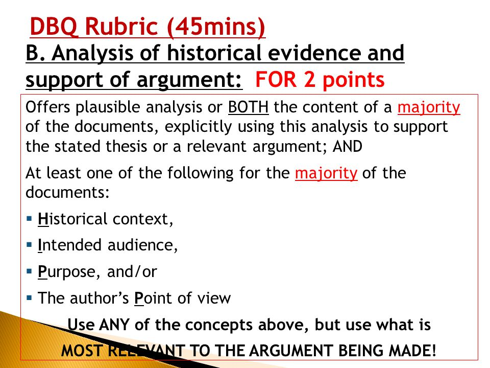historical analysis essay rubric