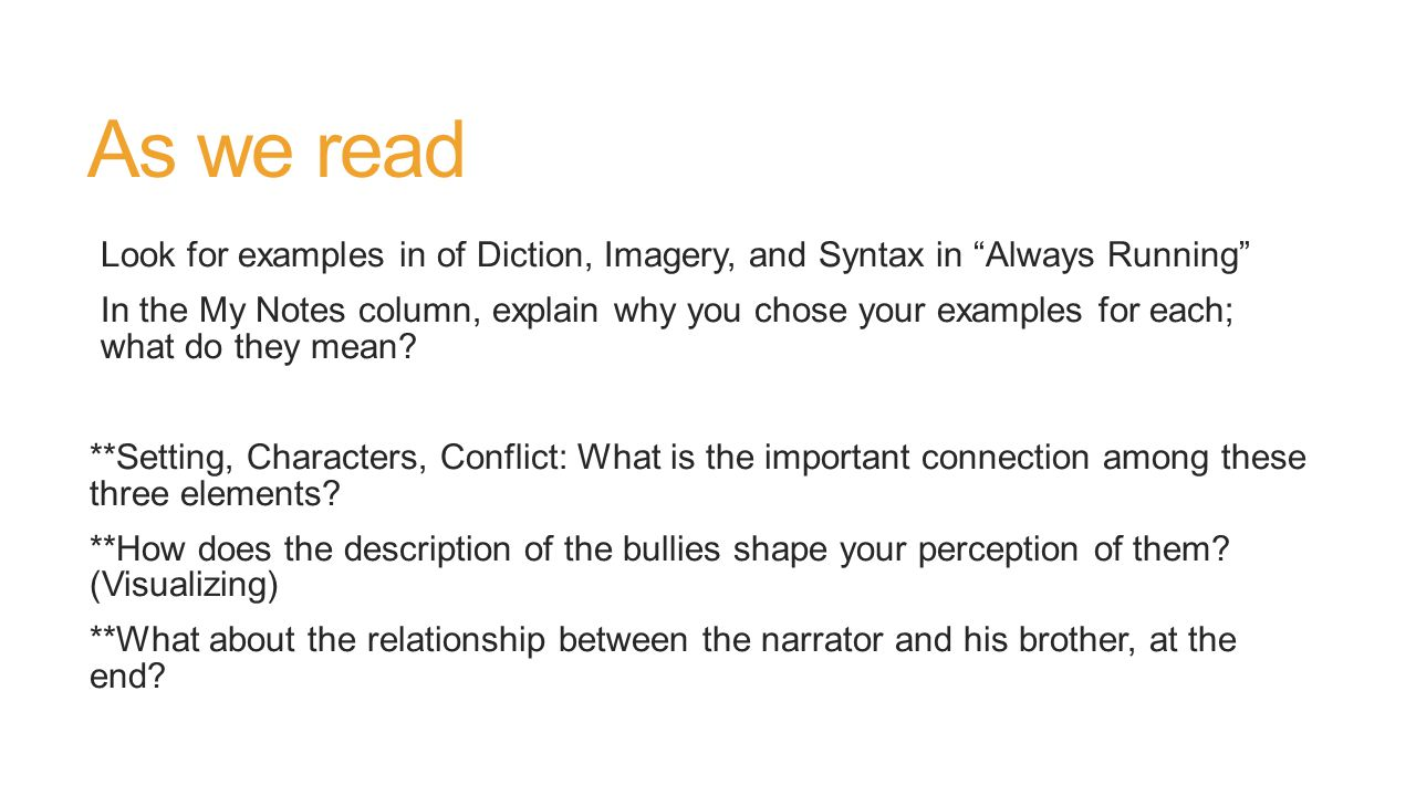 Lesson 6h two versions one narrative ppt download for What does diction mean