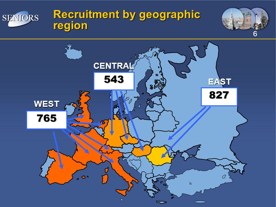 Recruitment by geographic region