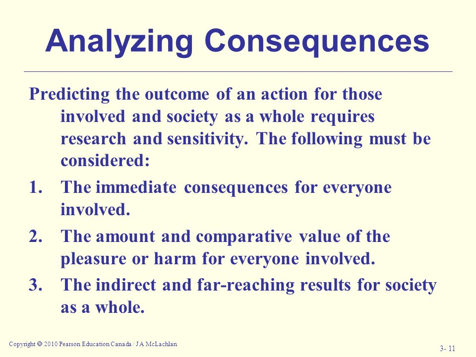 Analyzing Consequences