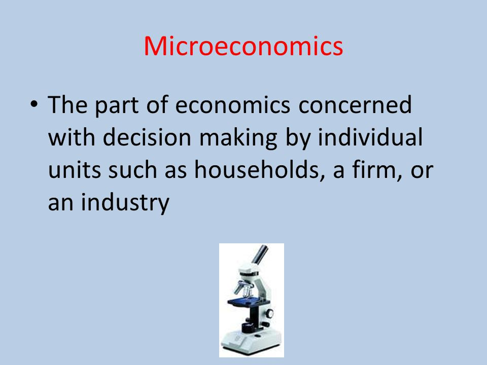 microeconomics economic decisions made at a Impact of microeconomics to economic development of a country,the concept of traumatized economy.