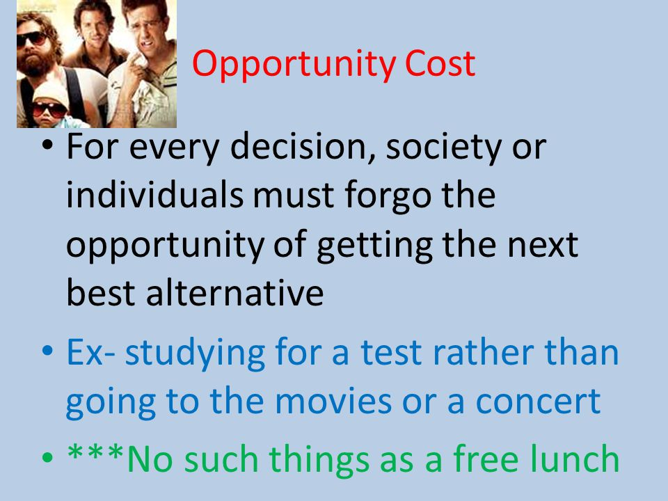 a discussion on comparing opportunity costs upon decision making Definition of opportunity cost has an associated opportunity cost opportunity costs are fundamental costs in economics, and are used in computing cost benefit analysis of a project such costs, however, are not recorded in the account books but are recognized in decision making by computing.