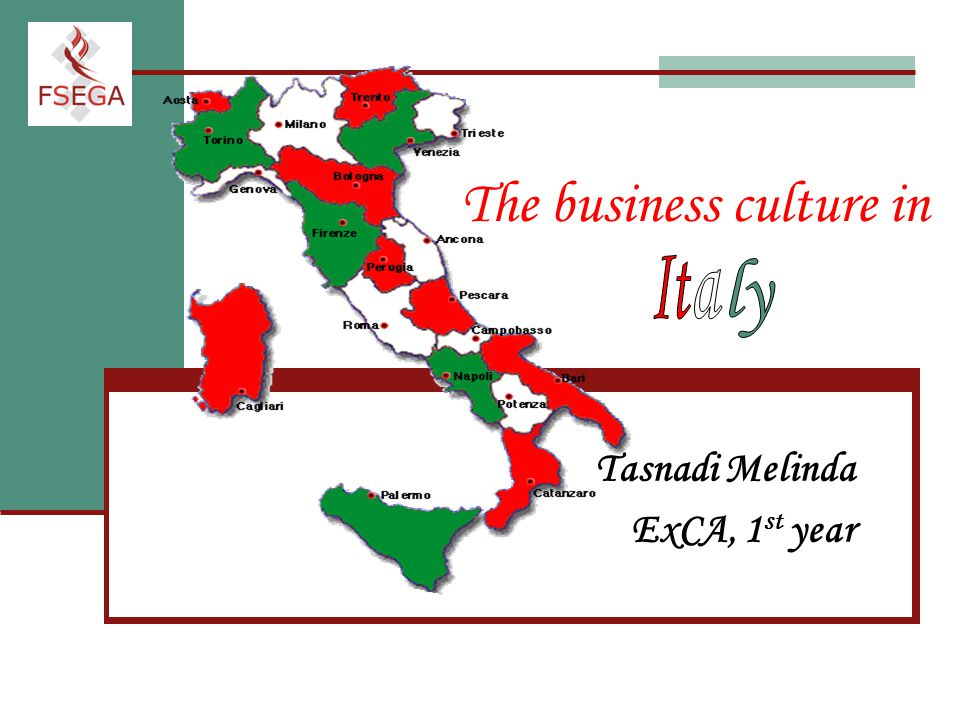 business culture italy Business cultures in europe the other five countries covered in the book have also witnessed changes in their business culture and these france, italy.