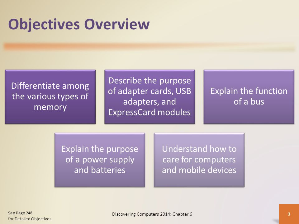 Objectives Overview Discovering Computers 2014: Chapter 6 See Page 248