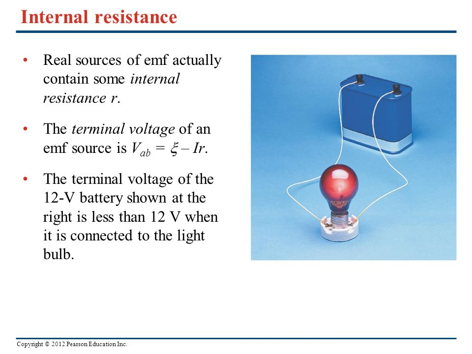 how to find source voltage from terminal voltage