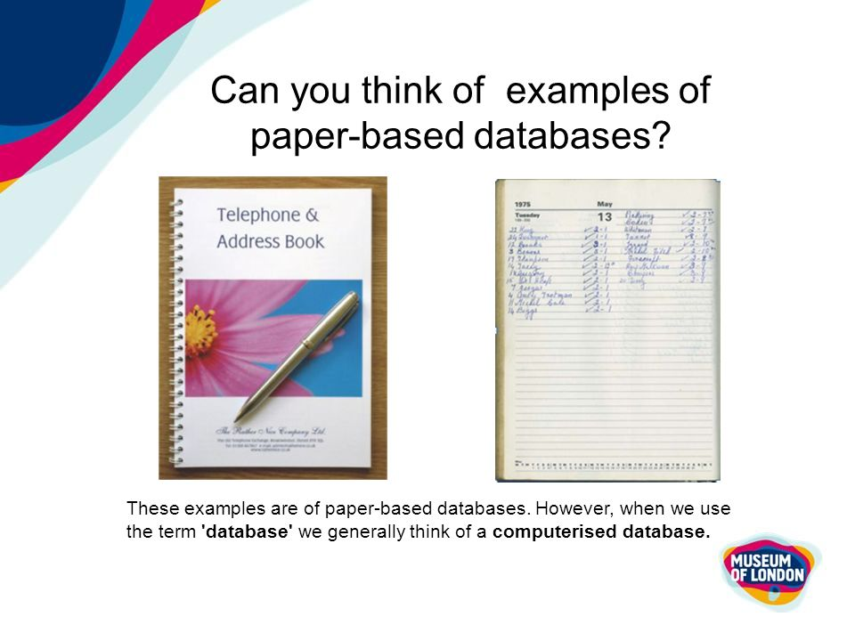 disadvantages of paper based records Its disadvantages include: examples of paper-based storage devices that are still common today include data entry forms, record cards, photographs.