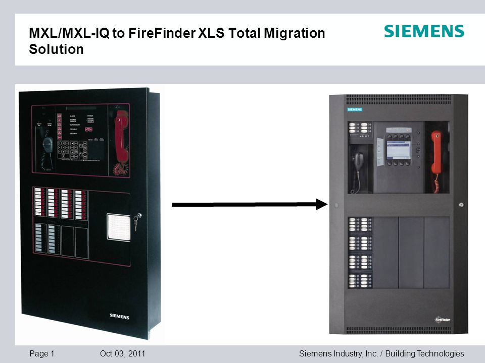 mxl mxl iq to firefinder xls total migration solution ppt video rh slideplayer com Siemens XLS System Siemens XLS Pictures