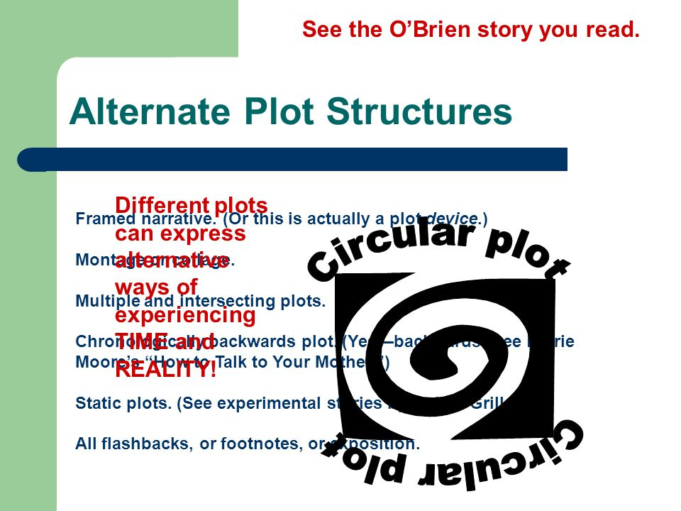 alternate plot structure assign A &amp p plot structure all aspects of the story portrayed in the plot show what makes the story hold together and present itself in a way that can be understood.