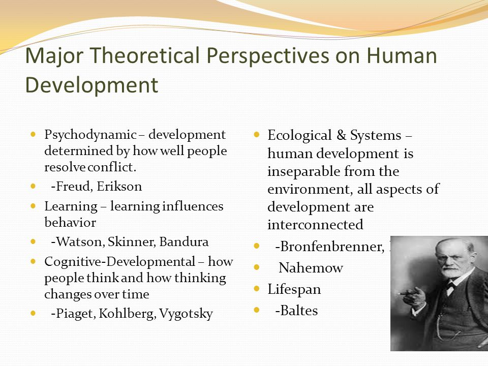 an analysis of the five major theoretical perspectives Psychology is the study of the mind, and of necessity, a complex subject it is generally agreed that there are five main theories of psychology: biological psychodynamic behavioural cognitive humanistic though older perspectives such as psychodynamic theory have largely been superseded by newer thinking, there is.