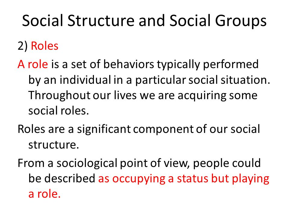 roles of individuals and societies Role of businesses in society and the importance of acting in harmony with social  norms this  many people are questioning the roles of individual companies.