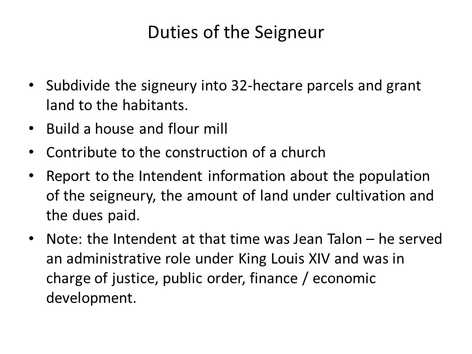 The seigneurial system of new france ppt download for How to finance land and build a house