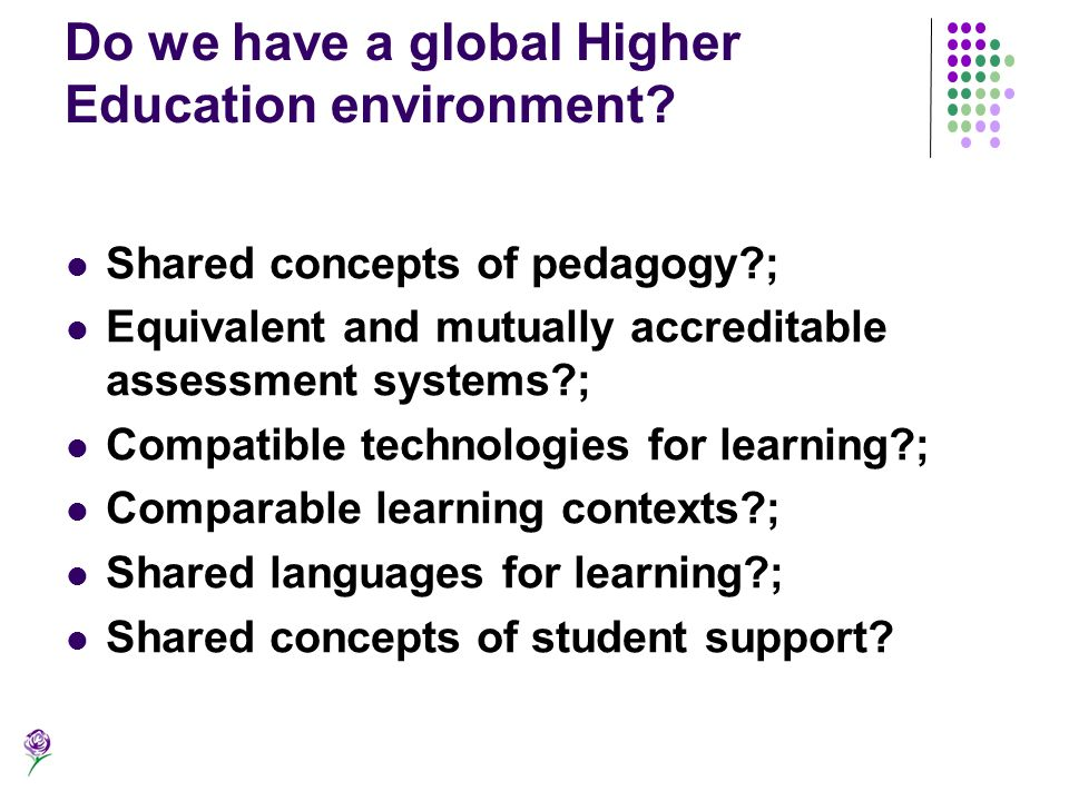 Do we have a global Higher Education environment
