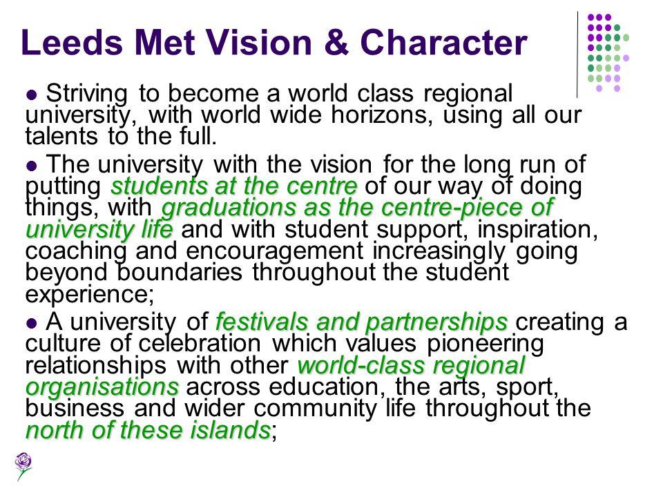 Leeds Met Vision & Character