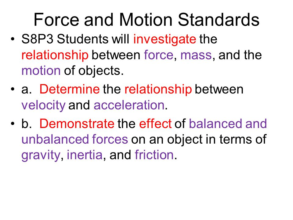 the relationship between force and velocity